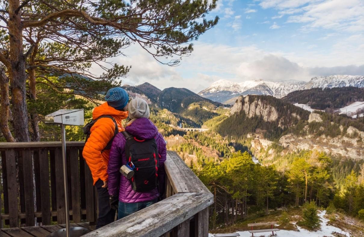 Winterwandern Semmering 20 Schilling Blick